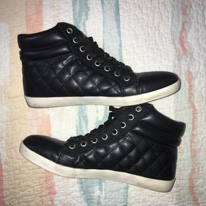 Quilted Black High Tops